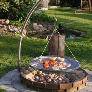Brick or Stone Fire Pit for Grilling| Fire Pit Ideas Outdoor Living | Alexander and Xavier Masonry