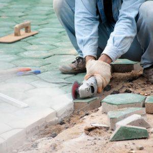 Cutting Flagstone Using Power Tools (3 Methods) How to Cut Flagstone   Alexander and Xavier Masonry