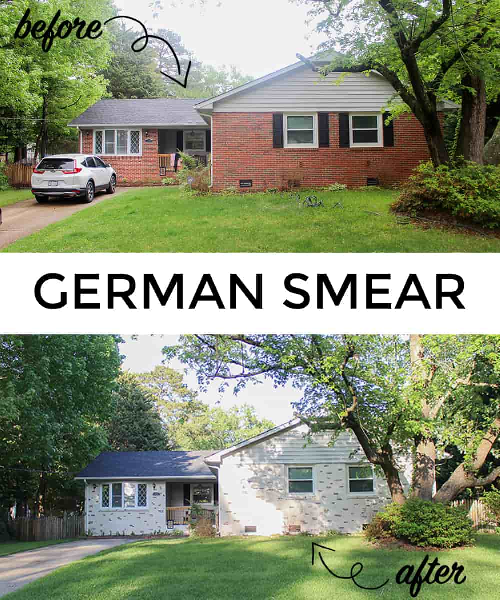 Getting the German Schmear Look German Smear Before and After | Alexander and Xavier Masonry