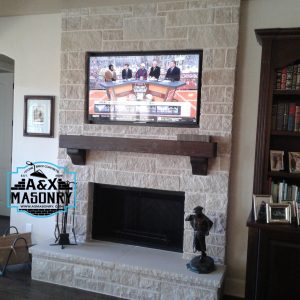 Indoor german smear fire place project | Alexander and Xavier Masonry
