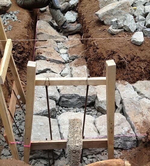 Lay the foundation Dry Stone Masonry | Alexander and Xavier Masonry