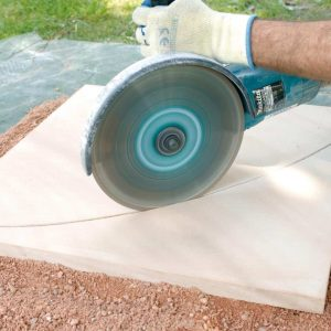 Method 2: How to Cut Flagstone with a Grinder How to Cut Flagstone   Alexander and Xavier Masonry