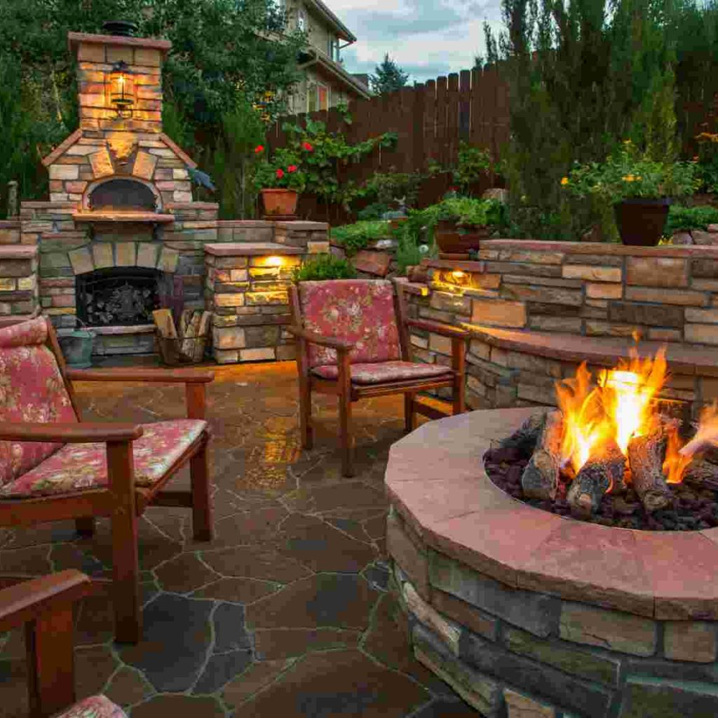 Outdoor Fireplace For Fall And Winter _ Alexander and Xavier Masonry