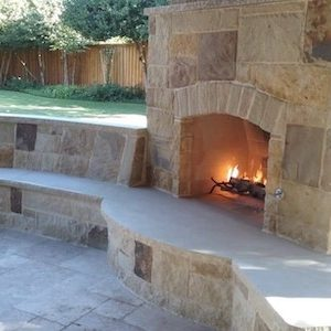 Outdoor Stone Fireplace in Garland TX | Alexander and Xavier Masonry.jpg