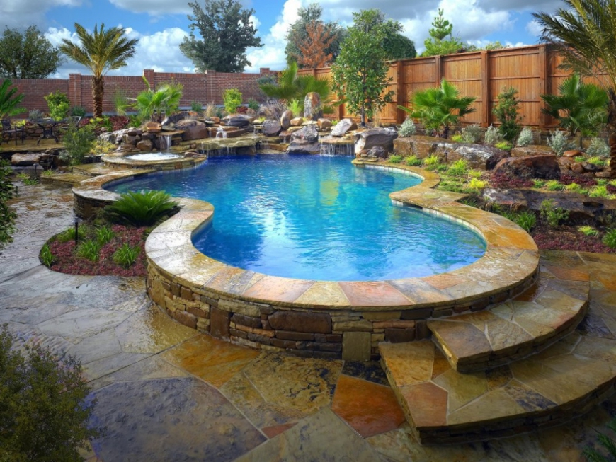 Stone Pool | Alexander and Xavier Masonry