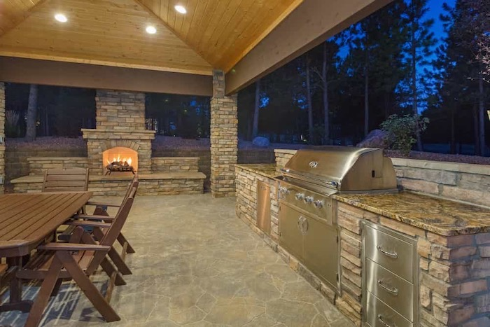 Stainless Steel Cabinets For Outdoor Kitchen| Alexander and Xavier Masonry