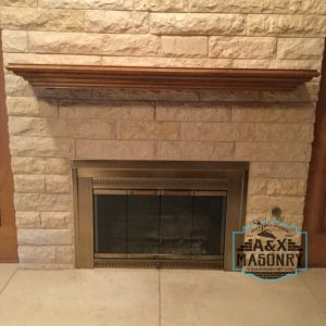 Stone Wall Modern Fire Place | Alexander and Xavier Masonry