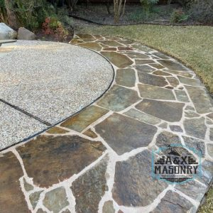 Stone patio design project for client | Alexander and Xavier Masonry