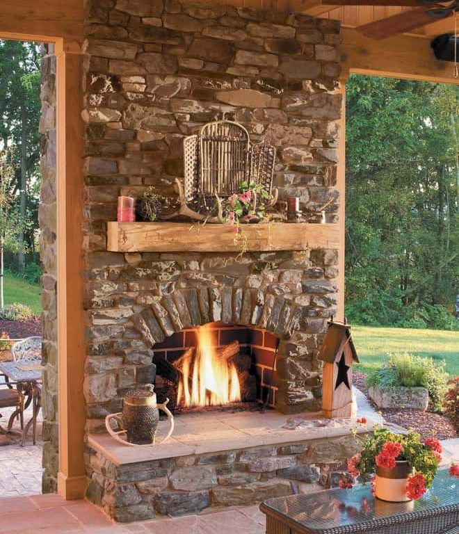 Traditional Open Hearth Indoor Wood Burning Fireplace | Alexander and Xavier Masonry