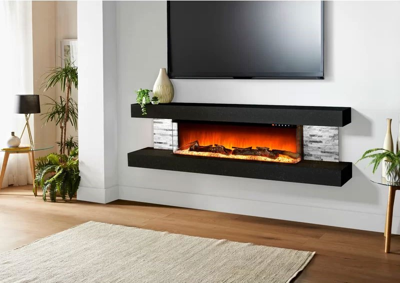 Wall-mounted Fireplaces Indoor Wood Burning Fireplace | Alexander and Xavier Masonry