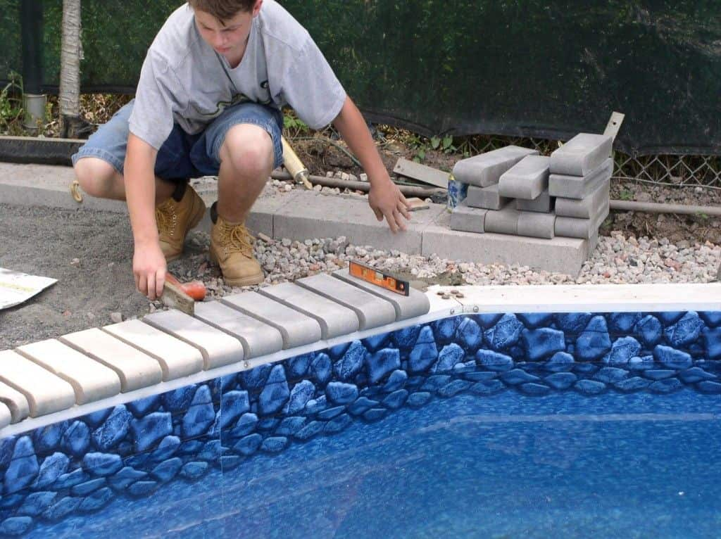 What is cantilever pool coping   Alexander and Xavier Masonry