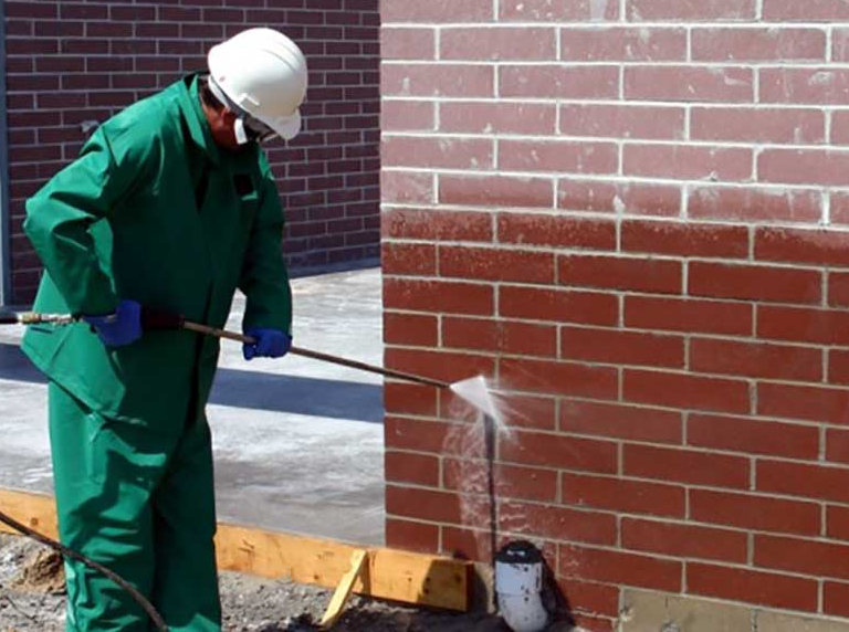 Cleaning the Fireplace Brick with Dishwashing Detergent | Alexander and Xavier Masonry