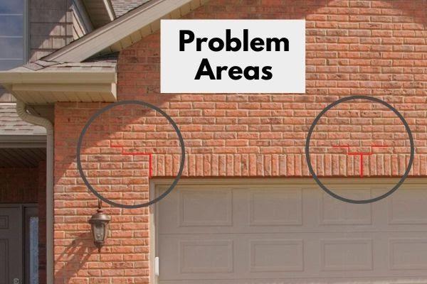 Sagging Lintel Causing Crack in Brick Wall | Alexander and Xavier Masonry