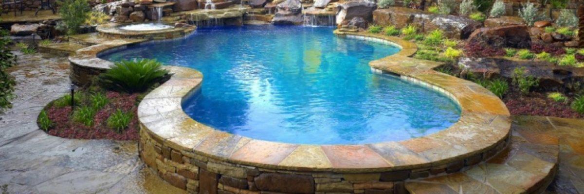 Coped Stone Pool   Alexander and Xavier Masonry