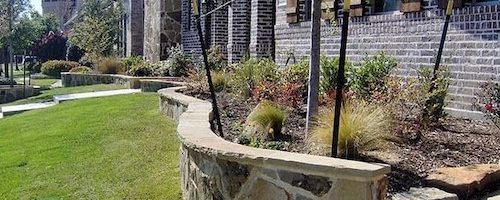 Stone Retaining Wall Job in Garland TX | Alexander and Xavier Masonry