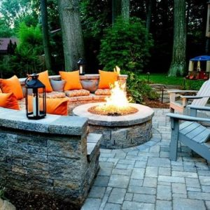 Patio Fire Pit | Fire Pit Ideas Outdoor Living | Alexander and Xavier Masonry