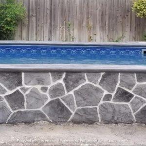 stone wall swimming pool | Alexander and Xavier Masonry